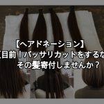 【ヘアドネーション】夏目前!バッサリカットをするならその髪寄付しませんか?