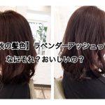 【秋の髪色】ラベンダーアッシュってなにそれ?おいしいの?